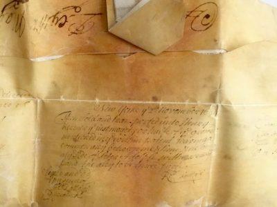 17th Century Vellum Deed
