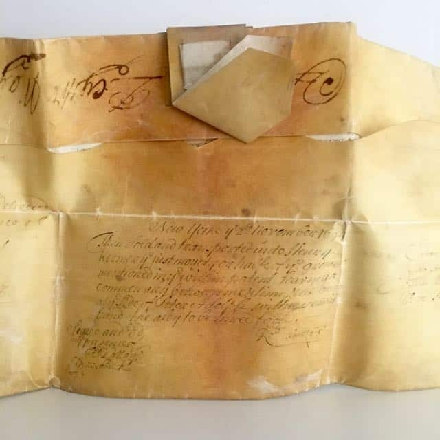 17th Century Vellum Deed