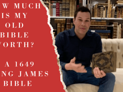 A Video on a the value of a Rare Bible